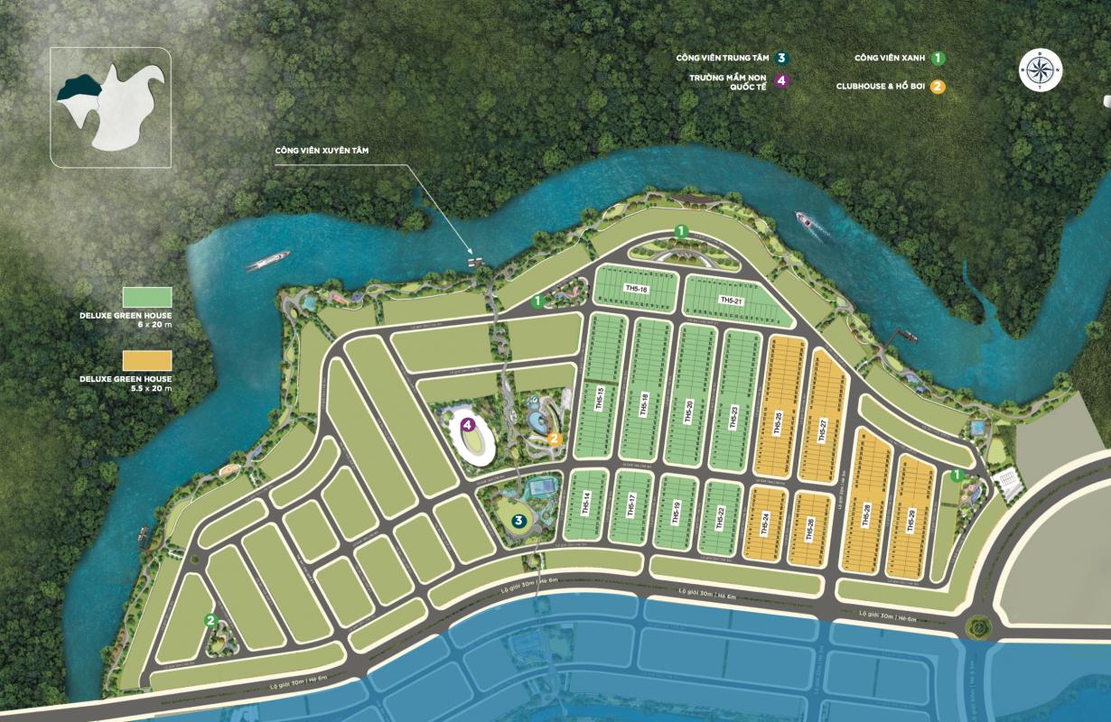 mặt bằng khu 5 đảo phượng hoàng aqua city