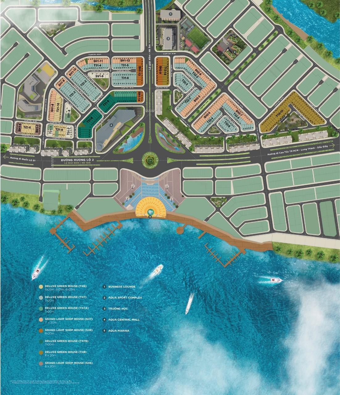 Mặt bằng Sunharbor 2 và Sunharbo 3 dự án Aqua City