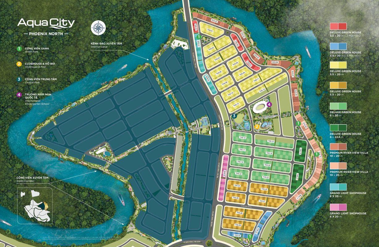 Mặt Bằng Đảo Phượng Hoàng (Phoenix North) Khu 5 – Aqua City
