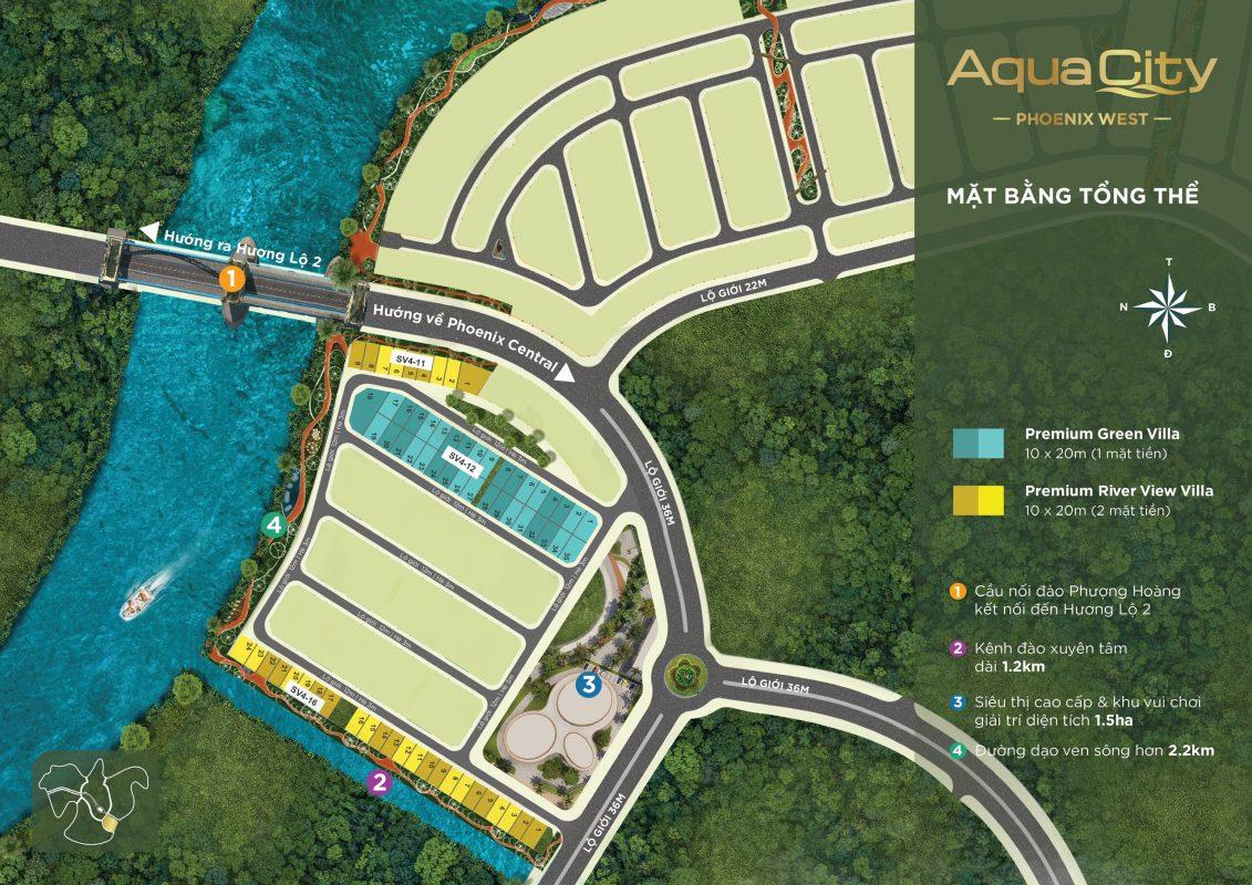 Mặt Bằng Đảo Phượng Hoàng Khu 4 (Phoenix West) – Aqua City