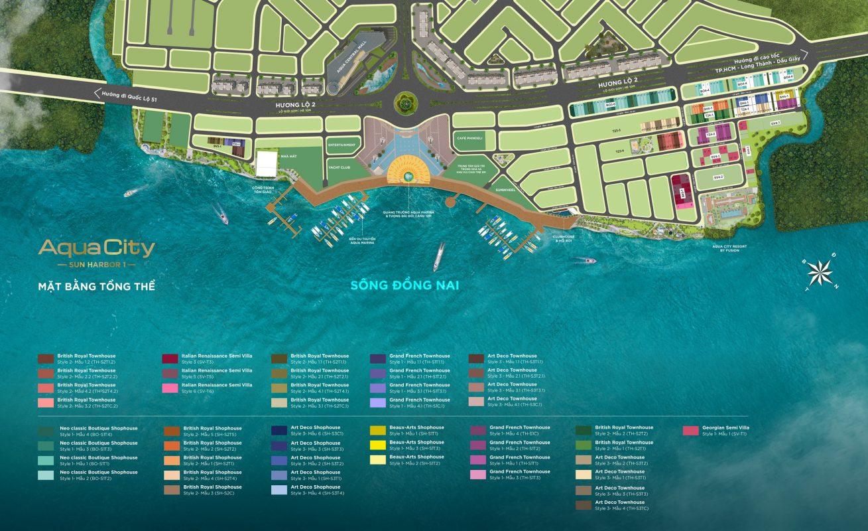 mặt bằn sunharbor 1 aqua city