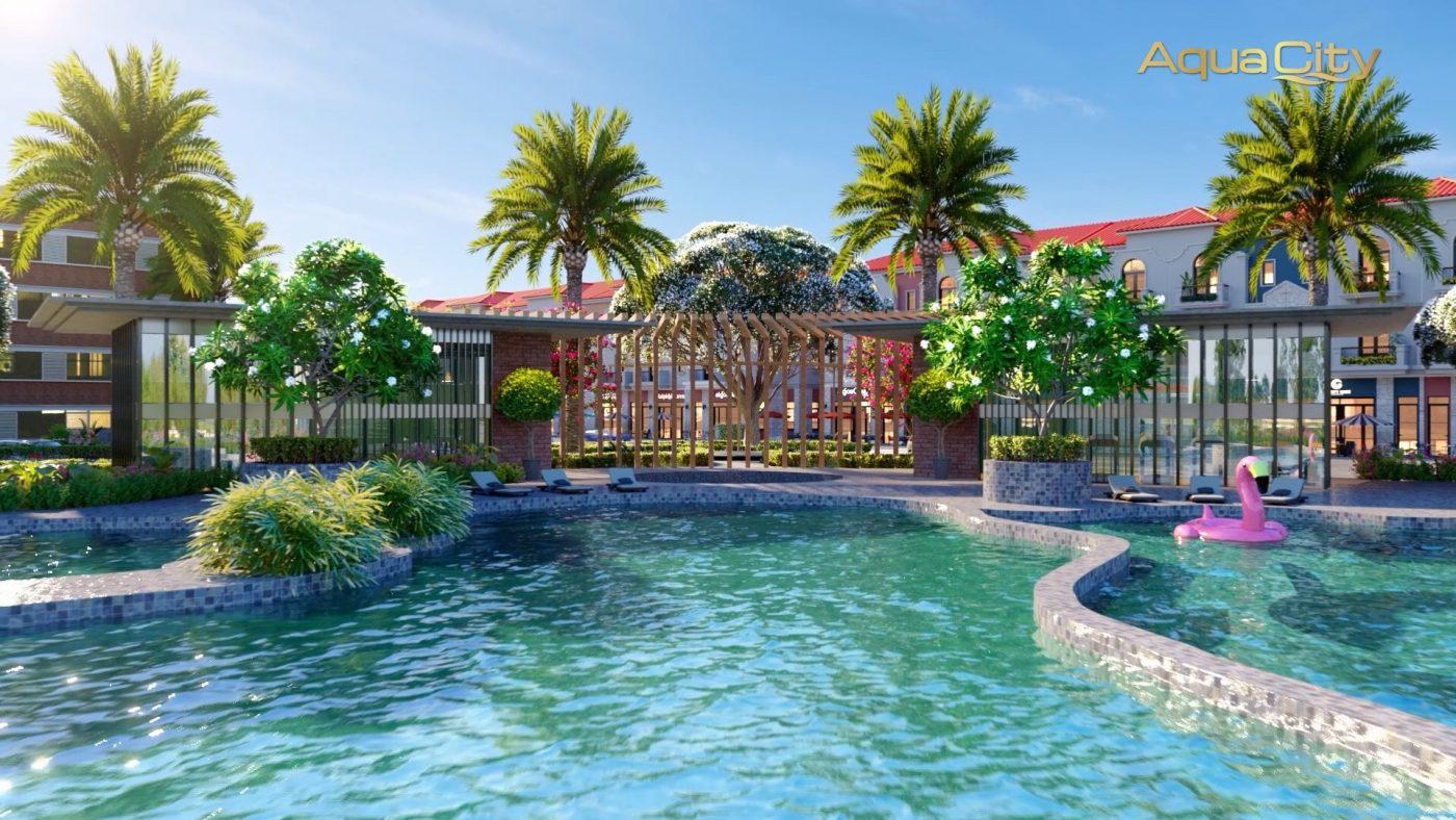Khu clup house Aqua City