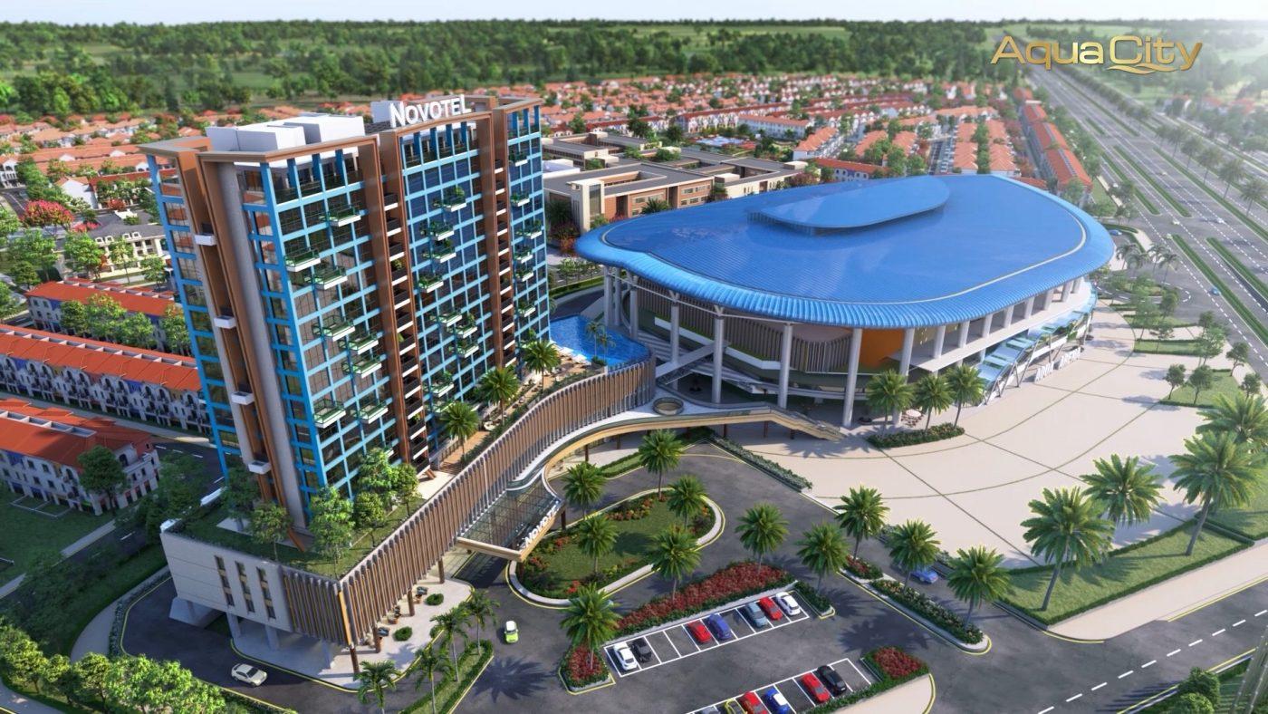 khách sạn quốc tế Novotel và trung tâm giải trí trong nhà Arena 11.000 chỗ ngồi