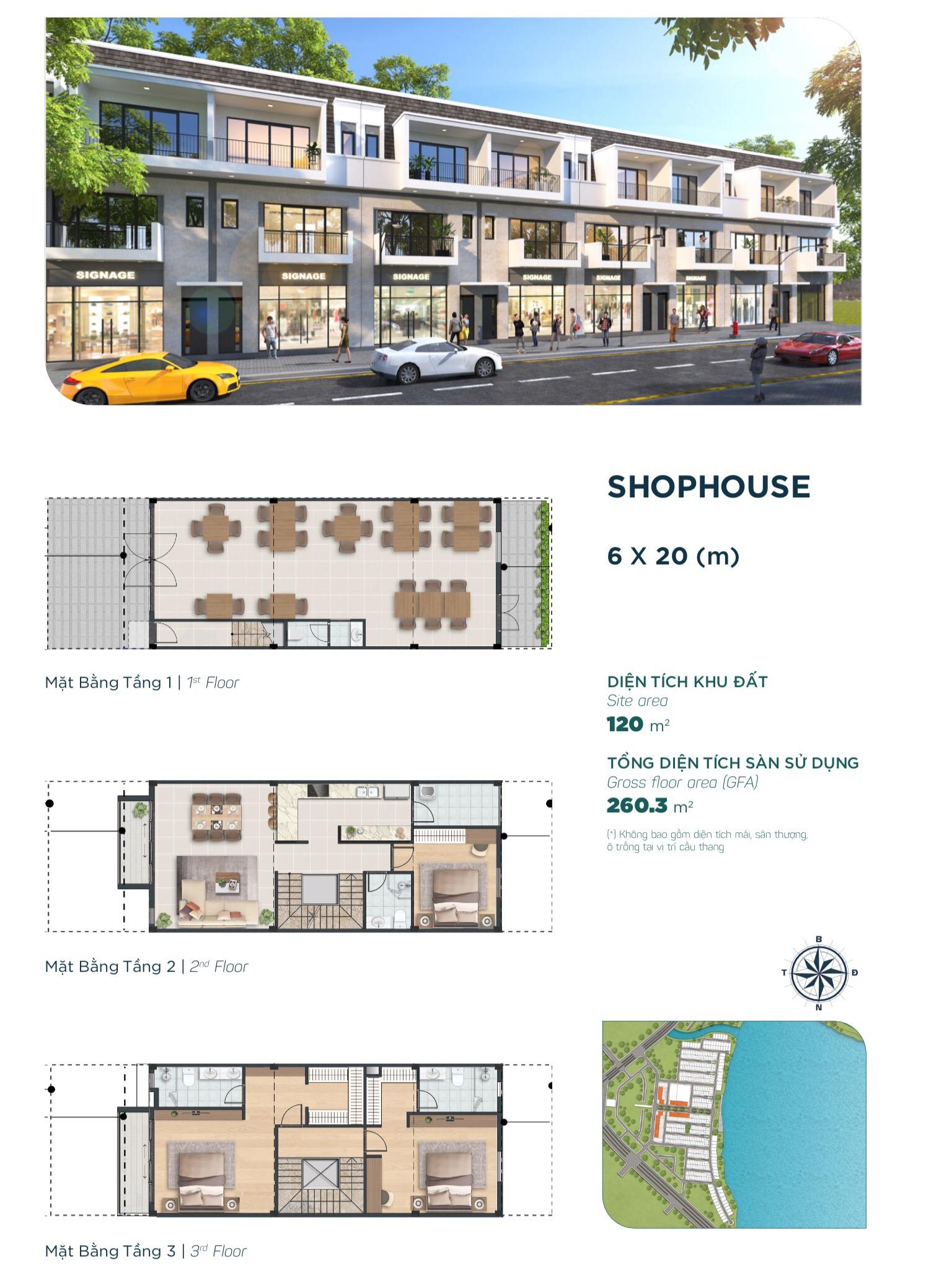 shop house aqua city - the elite 6x20